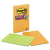 Post-it® Notes Super Sticky Pads in Marrakesh Colors, Lined, 5 x 8, 45-Sheet, 4/Pack MMM5845SSAN