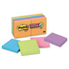 Post-it® Notes Super Sticky Pads in Marrakesh Colors, 3 x 3, 90-Sheet, 12/Pack MMM65412SSAN