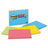 Post-it® Notes Super Sticky Meeting Notes in Rio de Janeiro Colors, Lined, 8 x 6, 45-Sheet, 4/Pack MMM6845SSPL
