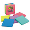 Post-it® Notes Super Sticky Pads in Rio de Janeiro Colors, Lined, 4 x 4, 90-Sheet, 6/Pack MMM6756SSUC