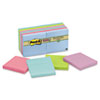 Post-it® Notes Super Sticky Recycled Notes in Bora Bora Colors, 3 x 3, 90-Sheet, 12/Pack MMM65412SST
