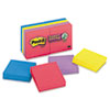 Post-it® Notes Super Sticky Pads in Rio de Janeiro Colors, 2 x 2, 90-Sheet, 8/Pack MMM6228SSAU