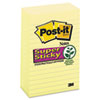 Post-it® Notes Super Sticky Canary Yellow Note Pads, Lined, 4 x 6, 90-Sheet, 5/Pack MMM6605SSCY