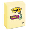Post-it® Notes Super Sticky Canary Yellow Note Pads, 3 x 5, 90-Sheet, 12/Pack MMM65512SSCY