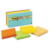 Post-it® Notes Super Sticky Recycled Notes in Bali Colors, 3 x 3, 90-Sheet, 12/Pack MMM65412SSNRP