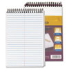 TOPS® Docket Gold Spiral Steno Book, Gregg Rule, 6 x 9, White, 100 Sheets TOP99708