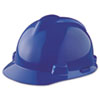 V-Gard Hard Hats, Staz-On Pin-Lock Suspension, Size 6 1/2 - 8, Blue MSA463943