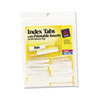 Avery® Insertable Index Tabs with Printable Inserts, 1 1/2, Clear Tab, White 25/Pack AVE16230