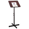 Safco® Adjustable Speaker Stand, 21w x 21d x 29-1/2h to 46h, Mahogany/Black SAF8921MH