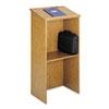 Safco® Stand-Up Lectern, 23w x 15-3/4d x 46h, Medium Oak SAF8915MO