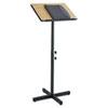 Safco® Adjustable Speaker Stand, 21w x 21d x 29-1/2h to 46h, Medium Oak/Black SAF8921MO
