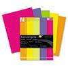 """Astrobrights® Color Paper - """"Happy"""" Assortment, 24lb, 8 1/2 x 11, 5 Colors, 500 Sheets WAU21289"""