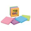 Post-it® Notes Super Sticky Pads in Marrakesh Colors, 3 x 3, 90-Sheet, 5/Pack MMM6545SSAN