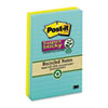 Post-it® Notes Super Sticky Recycled Notes in Bali Colors, Lined, 4 x 6, 90-Sheet, 3/Pack MMM6603SSNRP