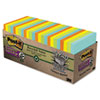 Post-it® Notes Super Sticky Recycled Notes in Bali Colors, 3 x 3, 70-Sheet, 24/Pack MMM65424NHCP