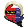 "Scotch® Bi-Directional Filament Tape w/Dispenser, 1.88"" x 21.8yds, 3"" Core, Clear MMM8959RD"