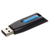 Verbatim® Store 'n' Go V3 USB 3.0 Drive, 16GB, Black/Blue VER49176