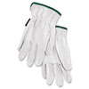 MCR™ Safety Grain Goatskin Driver Gloves, White, Medium, 12 Pairs - 127-3601M