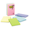 Post-it® Notes Original Pads in Marseille Colors, Lined, 4 x 6, 100-Sheet, 5/Pack MMM6605PKAST