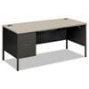 HON® Metro Classic Left Pedestal Desk, 66w x 30d, Gray Patterned/Charcoal HONP3266LG2S