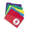 Smead® Slash Pocket Poly File Folders, 1/3 Cut Top Tab, Letter, Assorted, 30/Box SMD10540