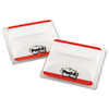 File Tabs, 2 x 1 1/2, Lined, Red, 50/Pack