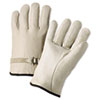 Anchor Brand® 4000 Series Leather Driver Gloves, Natural, Large, 12 Pairs - ANR4100L