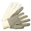 <strong>Anchor Brand®</strong><br />1000 Series PVC Dotted Canvas Gloves, White/Black, Large, 12 Pairs