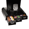 Mind Reader Anchor 36 Capacity Coffee Pod Drawer, 13 23/50 x 12 87/100 x 2 18/25 EMSTRY01BLK