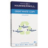 Hammermill® Great White Recycled Copy Paper, 92 Brightness, 20lb, 8-1/2 x 14, 500 Shts/Ream HAM86704