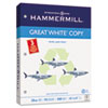 Hammermill® Great White Recycled Copy 3-Hole Punched, 92 Brightness, 20lb, Letter, 5000/Ctn HAM86702