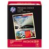HP Premium Choice LaserJet Paper, 98 Brightness, 32lb, 8-1/2x11, White, 500 Shts/Rm HEW113100