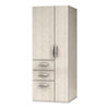 e5 Series Wardrobe Tower, 23-1/2w x 23-1/2d x 62h, Cocoa