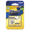 "<strong>Brother P-Touch®</strong><br />M Series Tape Cartridge for P-Touch Labelers, 0.47"" x 26.2 ft, Black on White"