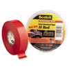 """SCOTCH 35 VINYL ELECTRICAL COLOR CODING TAPE, 3"""" CORE, 0.75"""" X 66 FT, RED"""