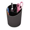Universal® Recycled Big Pencil Cup, Plastic, 4 1/4 dia. x 5 3/4, Black UNV08108