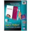 Avery® Index Maker Print & Apply Clear Label Dividers w/Clear Pockets, 8-Tab, Letter AVE75501