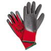 NON-RETURNABLE. Ninja Flex Latex-Coated-Palm Gloves, Nylon Shell, X-Large, Red/gray