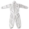 KleenGuard* A20 Breathable Particle Protection Coveralls, Zip Closure, 2X-Large, White - 417-49115