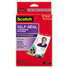 Self-Sealing Laminating Pouches w/Clip, 12.5 mil, 2 15/16 x 4 1/16, 25/Pack