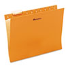 Universal® Hanging File Folder, 1/5 Tab, Letter, Orange, 25/BX UNV14122