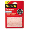 "Scotch™ Hook and Loop Fastener Tape, 1"" x 3"", two sets, Clear MMMRFD7090"