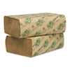 Wausau Paper® EcoSoft Multifold Towels, Natural, 250 Towels/Pack, 16 Packs/Carton - 48000