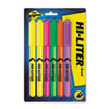 HI-LITER Pen-Style Highlighter, Chisel, Assorted Fluorescent Colors, 6/Set