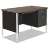 <strong>Alera®</strong><br />Single Pedestal Steel Desk, Metal Desk, 45.25w x 24d x 29.5h, Mocha/Black