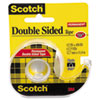 """Scotch® 665 Double-Sided Permanent Tape w/Hand Dispenser, 1/2"""" x 450"""", Clear MMM137"""