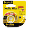 """Scotch® 665 Double-Sided Permanent Tape in Handheld Dispenser, 1/2"""" x 250"""", Clear MMM136"""