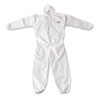 KleenGuard* A20 Breathable Particle Protection Coveralls, Zip Closure, 3X-Large, White - 417-49116