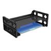 Universal® Side Load Legal Desk Tray, Two Tier, Plastic, Black UNV08101
