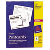 Avery® Postcards for Laser Printers, 4 1/4 x 5 1/2, Uncoated White, 4/Sheet, 200/Box AVE5689
